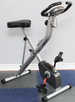 Exerpeutic 1200 Folding Magnetic Upright Bike with Pulse
