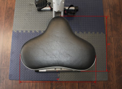 Upright exercise bike seat dimensions