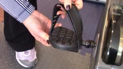 Attach pedal strap