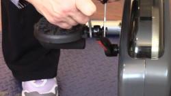 Secure left pedal