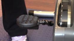 Secured left pedal