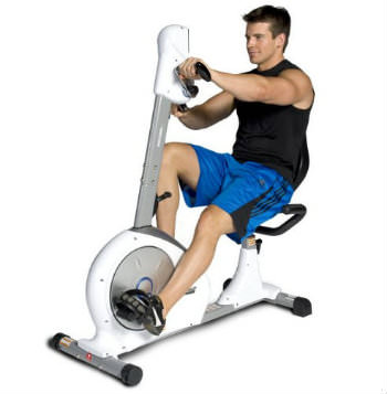 Dual action exercise bike