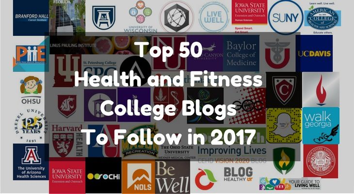 Top 50 Health and Fitness College Blogs To Follow in 2017