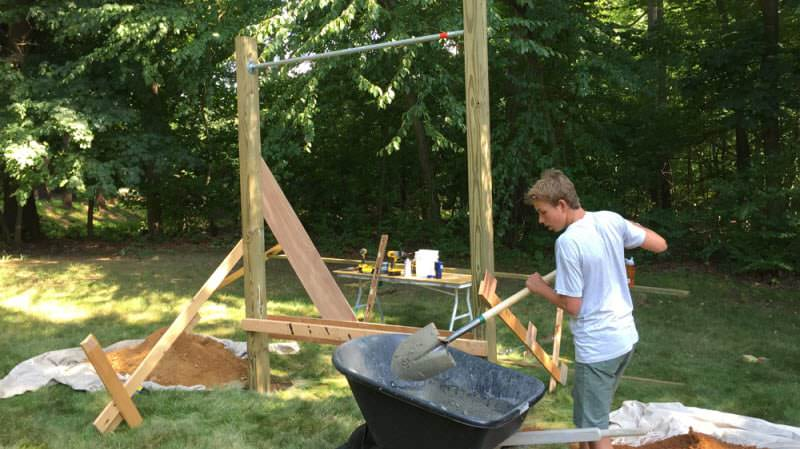backyard pull up bars